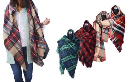 Scarves with Check Pattern for £11.99