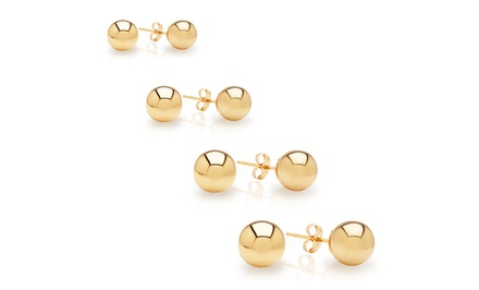 14k Gold Ball Studs, Starting at $9.99