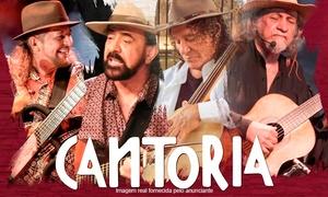 Asa Produções: Show ''Cantoria'' – Teatro Rio Vermelho: 1 ingresso para platéia superior, setor A ou B no dia 13/08, às 21h