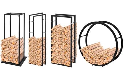 Opbergrek voor brandhout, diverse modellen