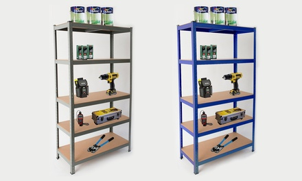 Heavy-Duty Five-Tier Storage Unit from £26.99 With Free Delivery