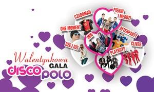 Gala Disco 80-90: 69,99 zł: bilet dla 2 osób na Walentynkową Galę Disco Polo w Słupsku i więcej opcji (do -33%)