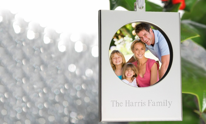 Personalized Silver Frame Ornament | Groupon