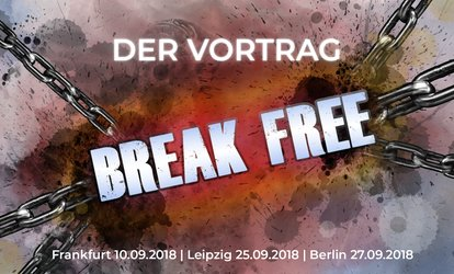 "Motivations-Event ""Break Free"" mit Bernd Kiesewetter im September in Frankfurt, Leipzig und Berlin (60% sparen)"