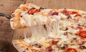 La Famiglia Pizzeria: Specialty and Cheese Pizzas with Two Toppings or $20 Worth of Food at La Famiglia Pizzeria (Up to 40% Off).