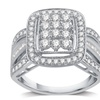 1 CTTW Diamond Composite Ring in Sterling Silver by DeCarat
