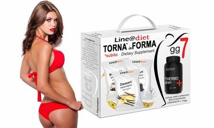 1 ou 2 kits perte de poids en 7 jours avec préparations de protéines, Thermodren et comprimés Bruciagrass