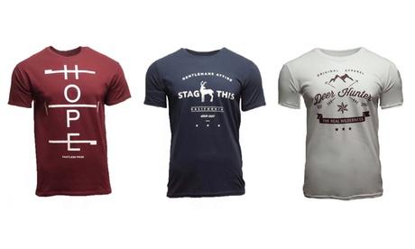 Pack de 3 camisetas con cuello redondo para hombre
