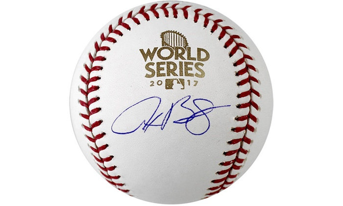 fc731f224 Houston Astros 2017 World Series Autographed Baseballs | Groupon