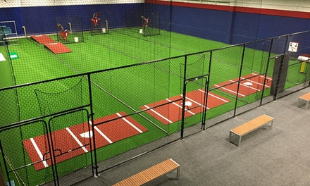 Batting Cage Session with Helmet and Bat Hire: 30 ($17) or 60 Minutes ($27) at The Cages (Up to $45 Value)