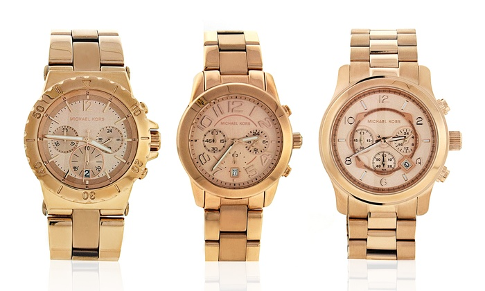 Michael Kors Women's Stainless Steel Watches with Rose-Gold Plating: Michael Kors Women's Stainless Steel Watches with Rose-Gold Plating