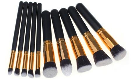 1, 2 o 3 sets de 10 brochas y pinceles de maquillaje Kabuki