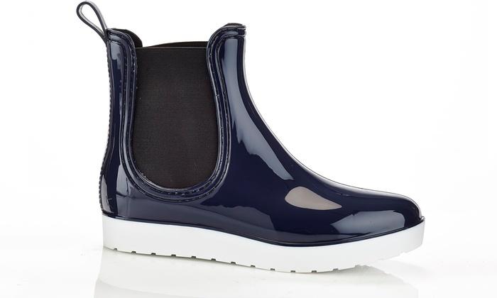 Henry Ferrera Women's Chic Platform Rain Boots (Size 9) | Groupon