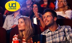 UCI ITALIA (NEW ): UCI Cinema - 2 o 5 biglietti validi in tutti i cinema UCI d'Italia (sconto fino a 55%)