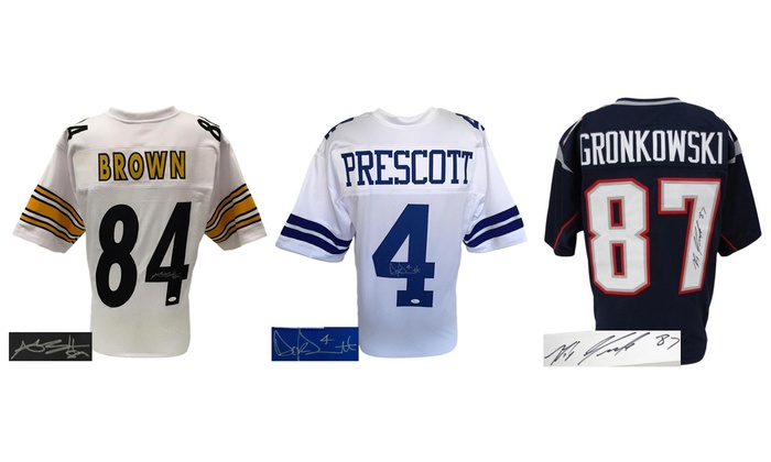 best sneakers d3cb3 ef994 NFL Autographed Football Jerseys | Groupon Goods