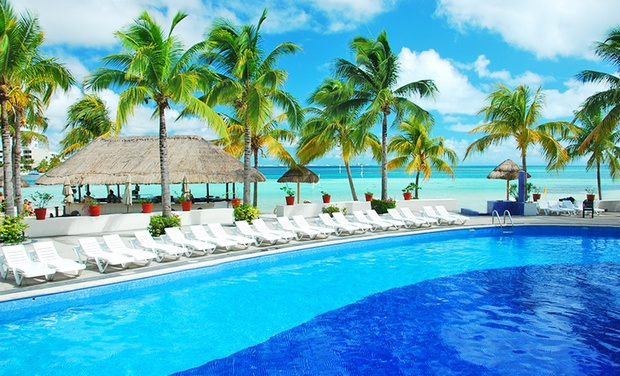 TripAlertz wants you to check out ✈ Oasis Palm All-Inclusive Stay with R/t Airfare, incl. taxes & fees. Price per person, based on 2 traveling. ✈ 4-Night All-Inclusive Cancún Vacation with Airfare - 4-Nts All-Incl. Cancún Vaction