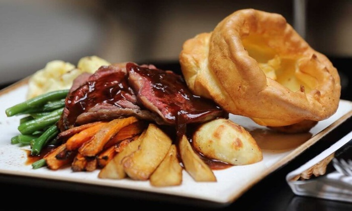 Three-Course Sunday Lunch, Wine and Spa Access for Two or Four at Trouville Hotel