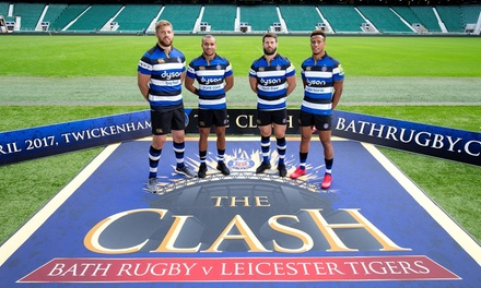 The Clash: Bath Rugby vs Leicester Tigers on 8 April 2017 for Child (from £5) or Adult (from £16.25)