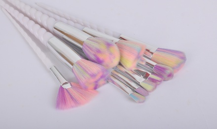 Unicorn Make Up Brushes: 5-Piece (from €12.99) or 10-Piece (from €15.99) (Up to 67% Off)