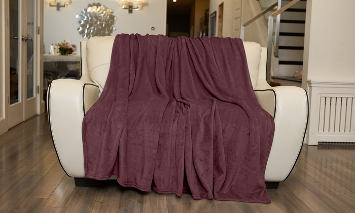 Silky Soft Thick Plush Sofa Throw Blanket