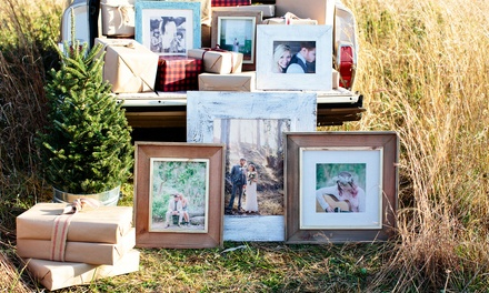 Custom Framed Print on Wood, Canvas, or Burlap from PhotoBarn (Up to 90% Off)