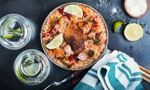 Mandi Restaurant: Syrisches Mandi-Menü mit Hähnchenkeule, Lammfleisch oder Fisch für Zwei im Mandi Restaurant (bis zu 50% sparen*)