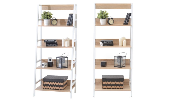 jusqu 39 54 meuble biblioth que scandinave groupon. Black Bedroom Furniture Sets. Home Design Ideas