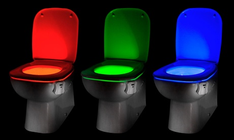 Up to Four Auraglow LED Motion Activated Toilet Night Lights