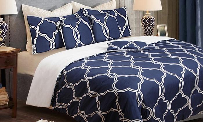 Six Piece Queen Comforter Set Groupon Goods