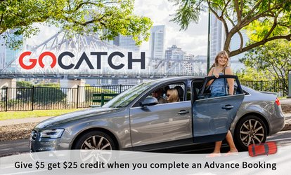 GoCatch: $5 for $25 Advance Booking Credit - Existing & New Users