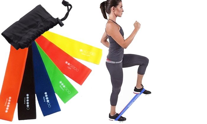Six Vivo Level Exercise Resistance Loop Bands for £3.98