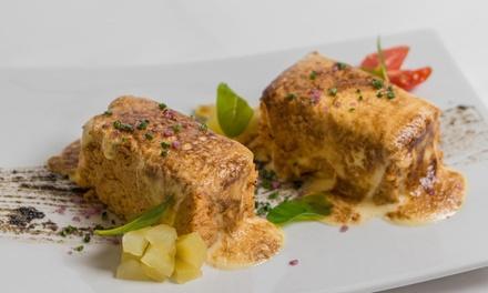 Menú para 2 con degustación de 5 platos, botella de vino, agua, café y opción a maridaje desde 59,95 € en Casa Zabala