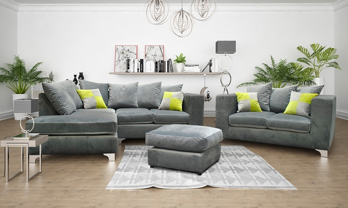 Nero Fabric Sofa Collection Groupon Goods