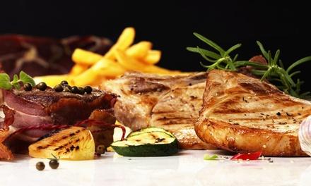 Grillteller mit Beilage und Dessert für zwei oder vier Personen im Restaurant Bukarest (50% sparen*)