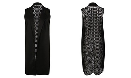 Lace Mesh Gilet for £9.98