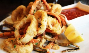 La Corona Di Ichnos Di Coronas Roberta: Menu di pesce con bottiglia di vino per 2 o 4 persone al ristorante La Corona Di Ichnos (sconto fino a 71%)