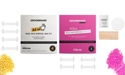 One, Two or Three Groomarang Mens or Womens Nose Hair Removal Kits