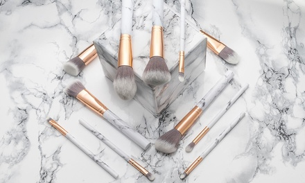 One or Two Sets of Marble Effect Make Up Brushes