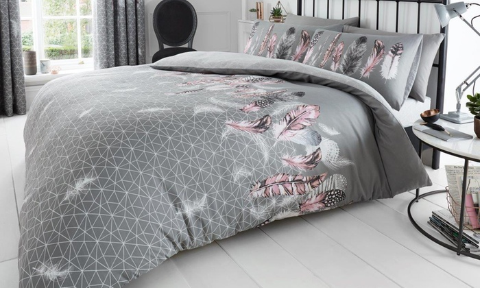 Feathers and Butterfly Duvet Set