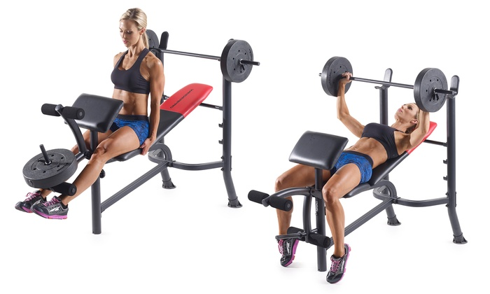 Weider pro adjustable weight bench with lb