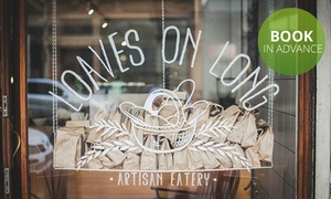 Loaves on Long: Choice of Breakfasts and a Hot Drink from R49 for One at Loaves on Long (Up to 45% Off)
