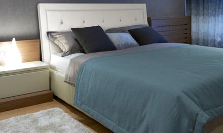 Tête de lit strass microfibre Rumba