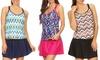 Dippin' Daisy's Women's Crossback Scoop Tankini with Skirt Bottom: Dippin' Daisy's Women's Crossback Scoop Tankini with Skirt Bottom