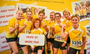 5 km oder 10 km Ladies Run: Startplatz inkl. T-Shirt und Zeitmesser beim Ladies Run in Köln, Bremen, Dortmund, Leipzig oder Wiesbaden (41% sparen)