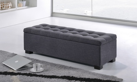 Baxton Studio Roanoke Upholstered Storage Ottoman Bench