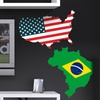 """24""""x24"""" Country Flag Vinyl Wall Decal"""