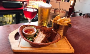 Blundell Street Restaurant: Band Night with Meal and Drink for One or Two at Blundell Street Super Club(Up to 53% Off)