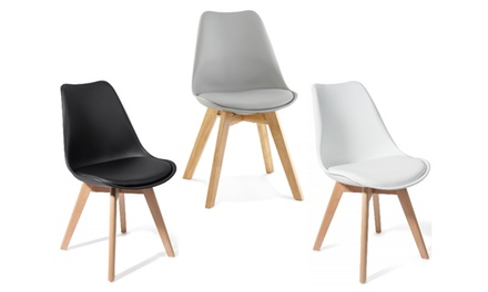 Lot de 2 ou 4 chaises scandinaves Brekka
