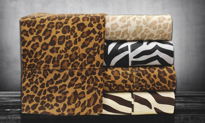 Hotel Collection Animal-Print Sheets: Hotel Collection Animal-Print Microfibre Sheet Sets (Up to 68% Off). Seven Options Available.