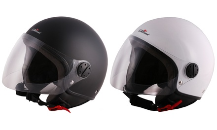 Casco Demi Jet City Scotland disponibile in 2 colori e 4 misure
